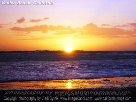 California Beach Sunset