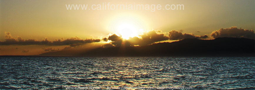 beach sunset. Venice Beach Sunset Over